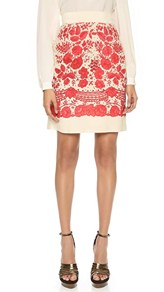 Philosophy di Lorenzo Serafini Lace Pattern Miniskirt
