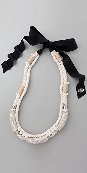 3.1 Phillip Lim Rope Wrap Necklace