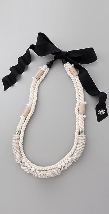 3.1 Phillip Lim Rope Wrap Necklace