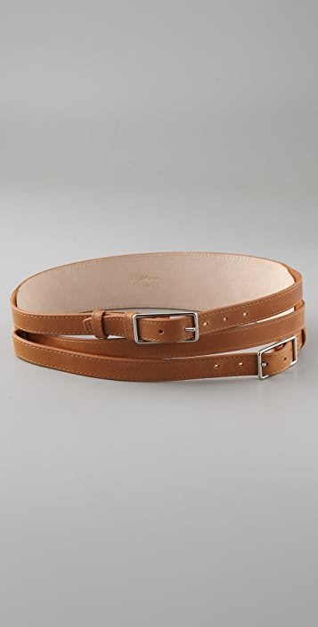 3.1 Phillip Lim Wide Waist Belt with Multi Strap Buckles