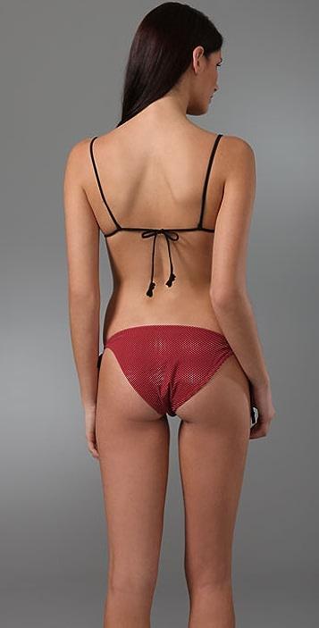 3.1 Phillip Lim Teeny Bikini Top with Heart Loop Ties