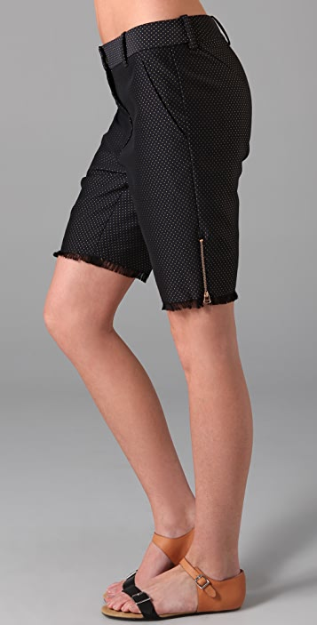 3.1 Phillip Lim Bermuda Shorts with Fringe Hem