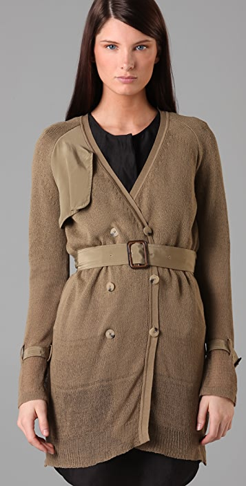 3.1 Phillip Lim Fading Hem Sweater Trench