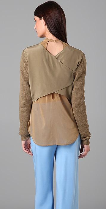 3.1 Phillip Lim Drape Back Sweater