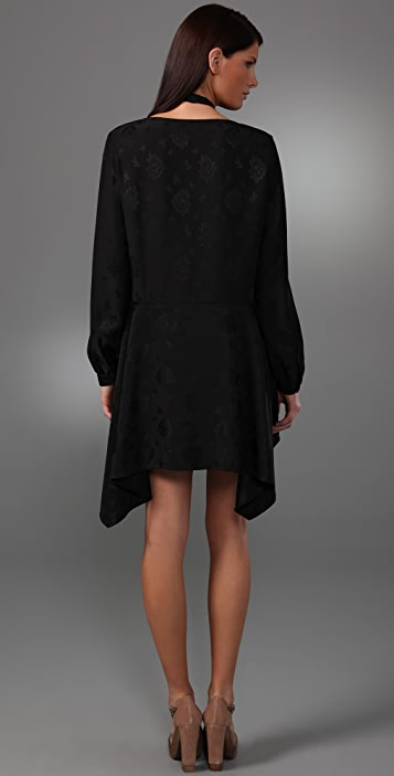 3.1 Phillip Lim Cross Collar Long Sleeve Dress