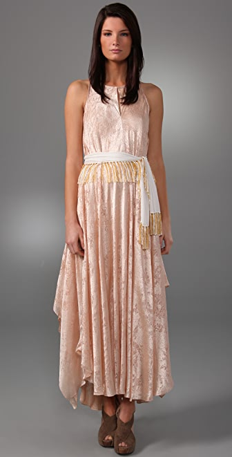 3.1 Phillip Lim Sleeveless Keyhole Maxi Dress with Fringe Belt