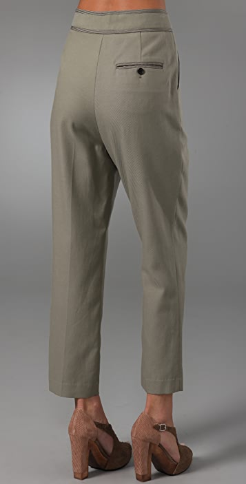 3.1 Phillip Lim Flat Front Trousers with Suspenders