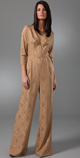 3.1 Phillip Lim Wide Leg Jumpsuit with Open Tie Back