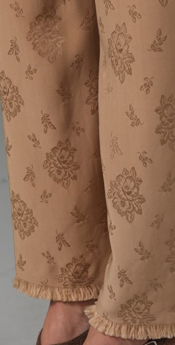 3.1 Phillip Lim Cropped Wide Leg Fringe Trousers