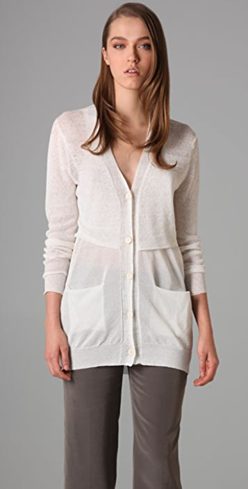 3.1 Phillip Lim Relaxed Cardigan with Cut Away Waist