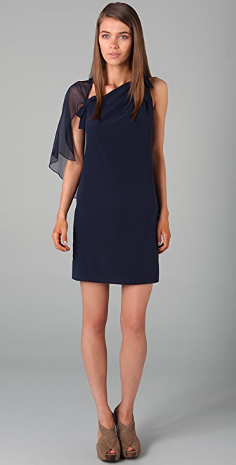 3.1 Phillip Lim Sleeveless Asymmetrical Cape Dress