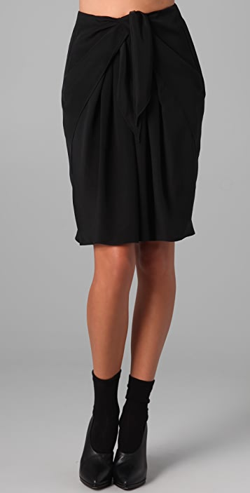 3.1 Phillip Lim Draped Tie Front Skirt