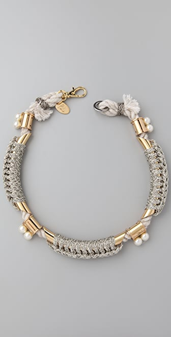 3.1 Phillip Lim Bianca Tubular Crochet Necklace