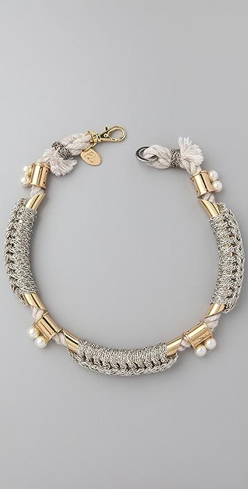 3.1 Phillip Lim Bianca Tubular Crochet Necklace