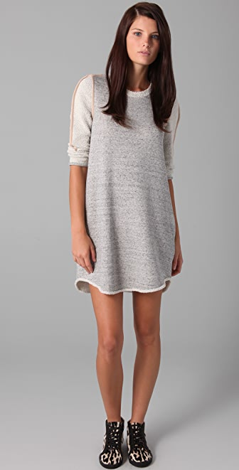 3.1 Phillip Lim 3/4 Sleeve Terry Dress