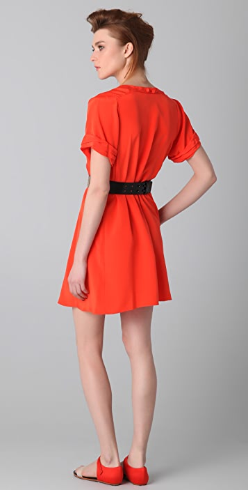 3.1 Phillip Lim Pleated Shoulder A Line Dress