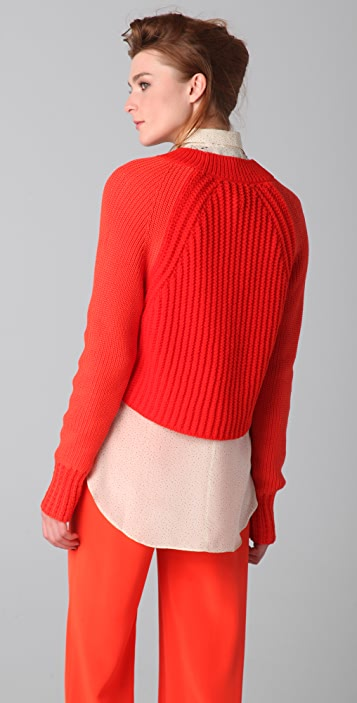 3.1 Phillip Lim Boxy Textured Pullover Sweater