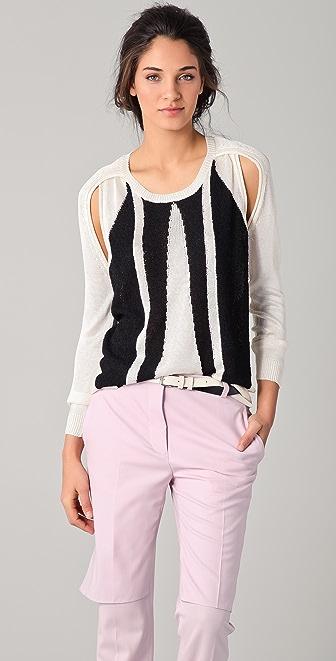 3.1 Phillip Lim Split Armhole Intarsia Sweater