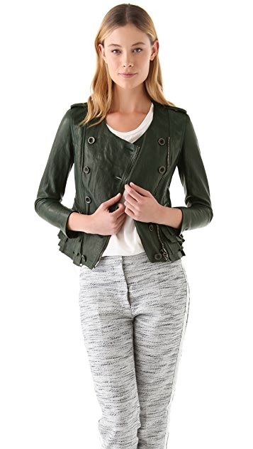 3.1 Phillip Lim Ruffle Leather Jacket