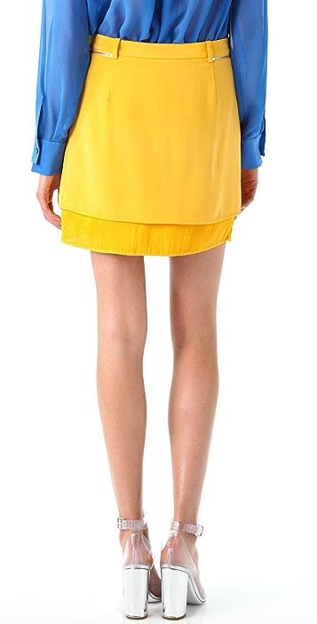 3.1 Phillip Lim Layered Miniskirt with Pintucks