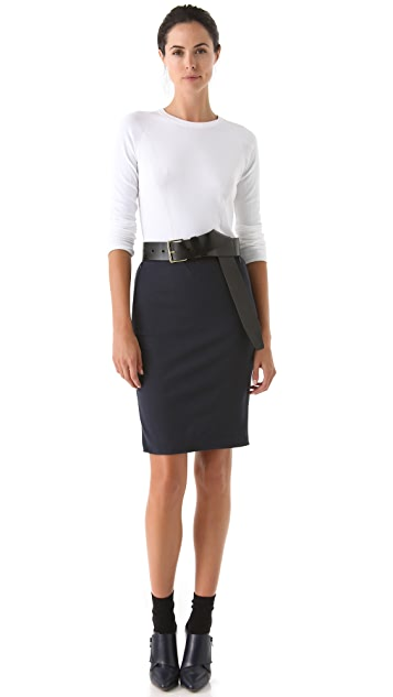 3.1 Phillip Lim Notch Pencil Skirt
