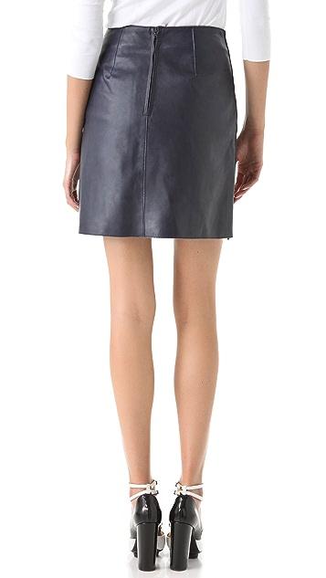 3.1 Phillip Lim Zip Panel Leather Skirt