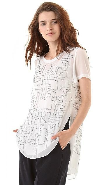 3.1 Phillip Lim Maze Embroidery Tee