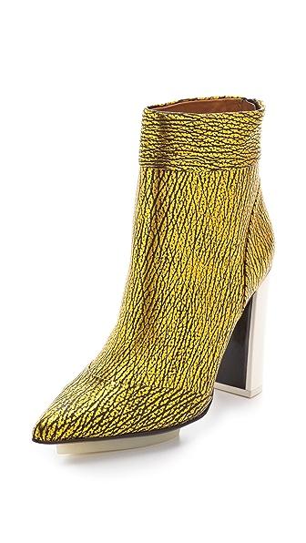 3.1 Phillip Lim Peggy Metallic Ankle Booties