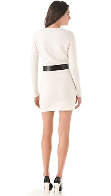 3.1 Phillip Lim Felted Ribbed Waist Dress