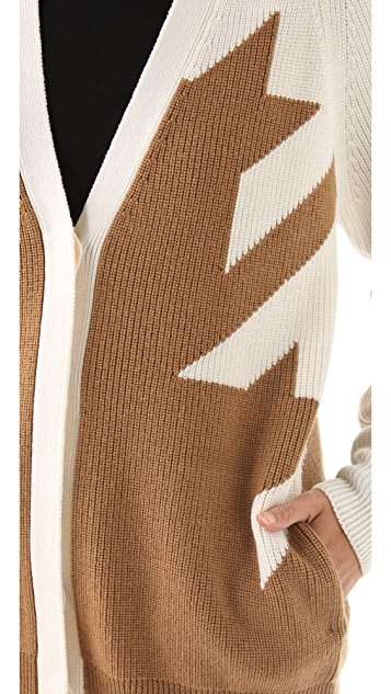 3.1 Phillip Lim Fading Houndstooth Cardigan