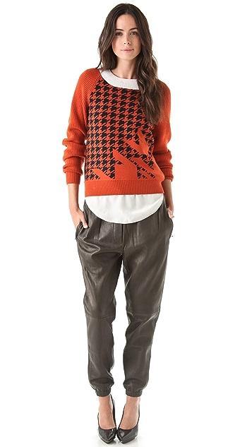 3.1 Phillip Lim Leather Sweatpants
