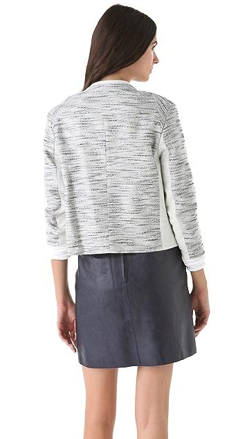 3.1 Phillip Lim Notch Sleeve Melange Jacket