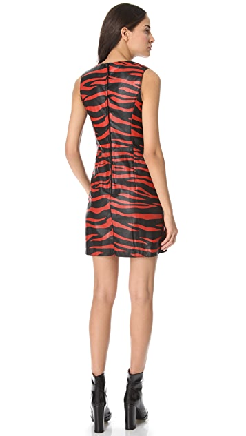 3.1 Phillip Lim Tiger Leather Dress