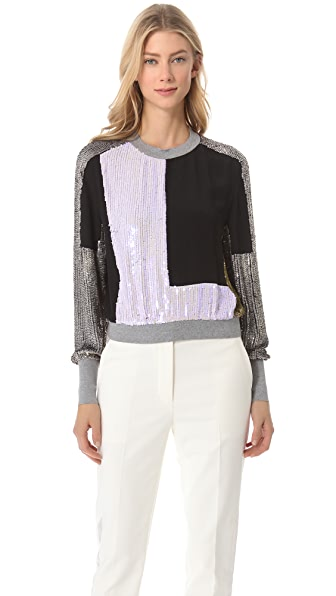 3.1 Phillip Lim Sequin Sweatshirt