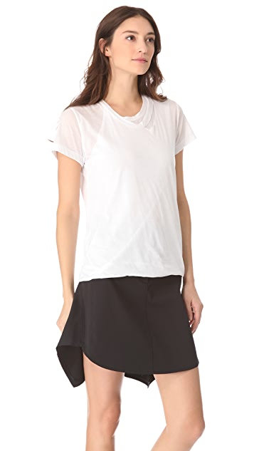 3.1 Phillip Lim Distressed Double Layer Tee