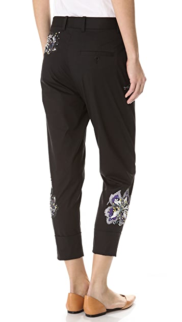 3.1 Phillip Lim Embroidered Dickey Trousers