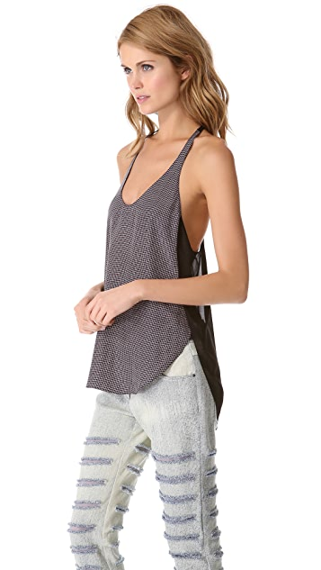 3.1 Phillip Lim Check Racer Back Tank