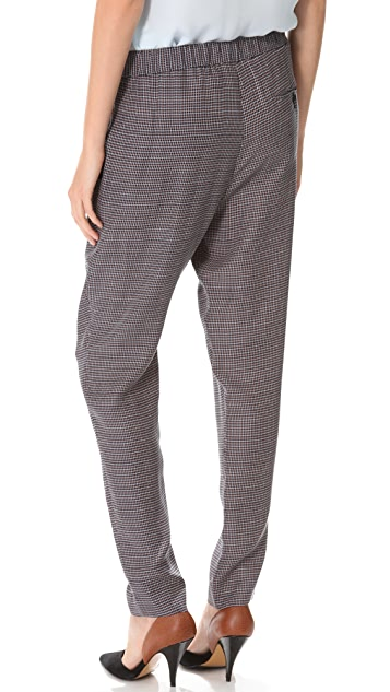 3.1 Phillip Lim Draped Pocket Check Trousers