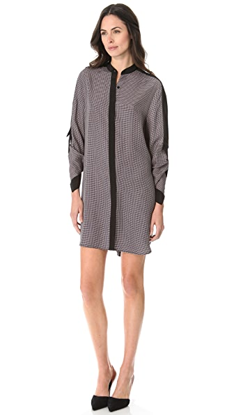 3.1 Phillip Lim Check Fold Back Dress