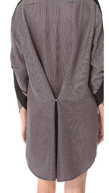 3.1 Phillip Lim Check Fold Back Dress
