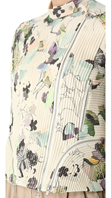 3.1 Phillip Lim Scrapbook Floral Corded Moto Jacket