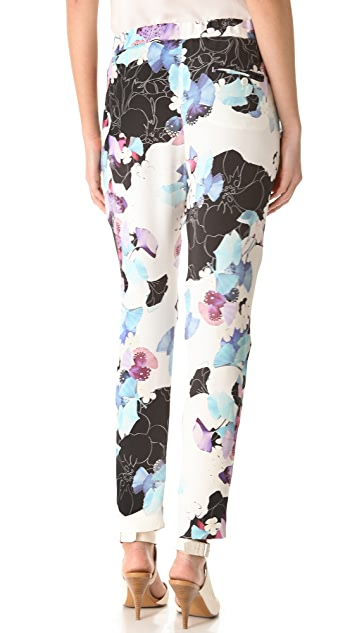 3.1 Phillip Lim Scrapbook Floral Draped Trousers