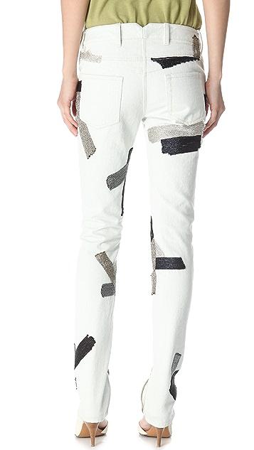 3.1 Phillip Lim Chain Patchwork Jeans