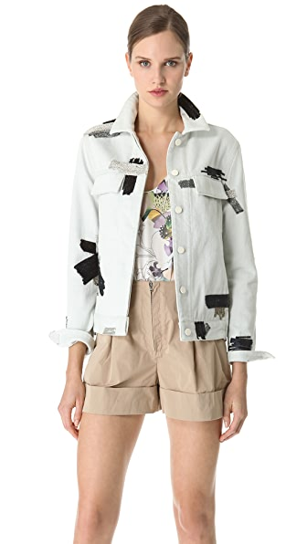 3.1 Phillip Lim Chain Patchwork Denim Jacket