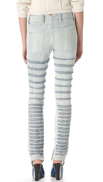 3.1 Phillip Lim Bleached Shredded Skinny Jeans