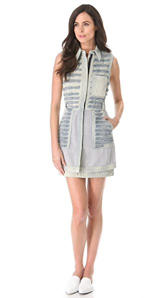 3.1 Phillip Lim Bleached Shredded Shirtdress