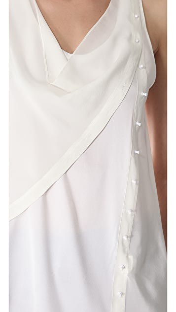 3.1 Phillip Lim Twisted Placket Top