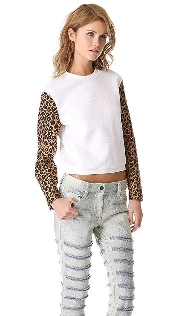 3.1 Phillip Lim Leopard Jacquard Sweatshirt