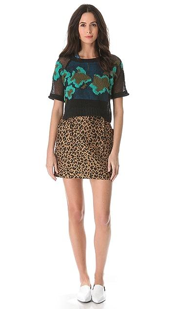 3.1 Phillip Lim Leopard Side Pocket Skirt