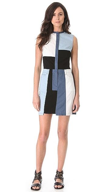 3.1 Phillip Lim Cut-Up Chambray Dress